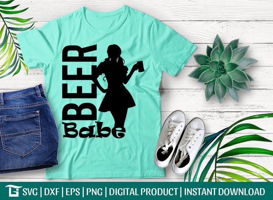 Beer Babe SVG | Beer Babe Women T-shirt Design