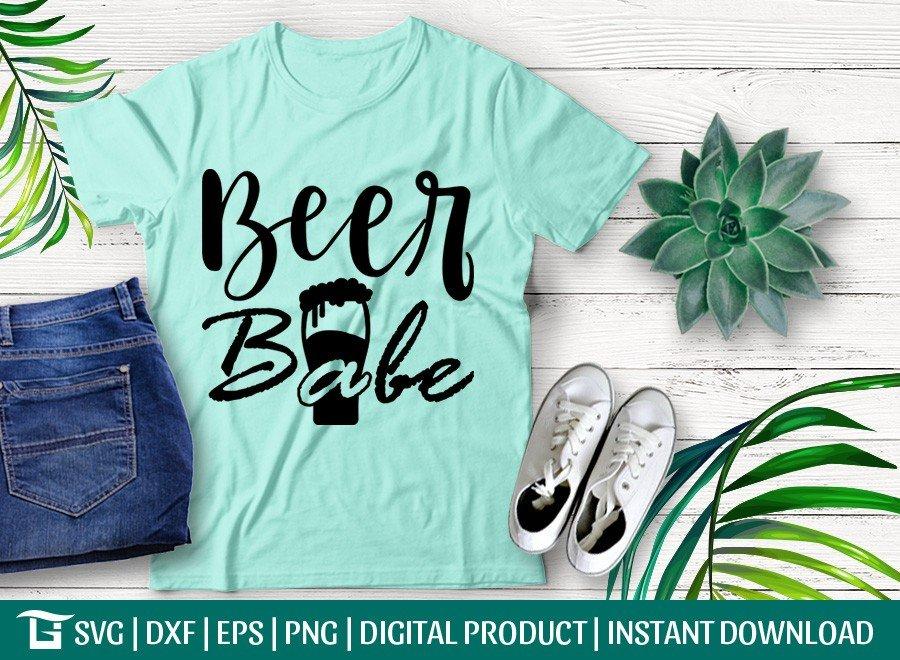 Beer Babe SVG | Beer Girl SVG | T-shirt Design