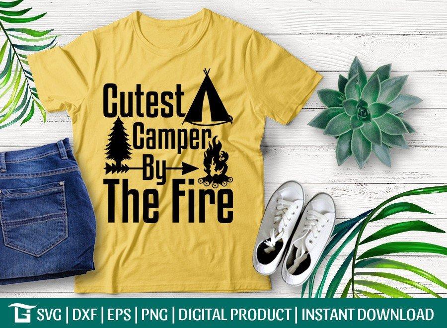 Cutest Camper By The Fire SVG | Camper Life | Adventure