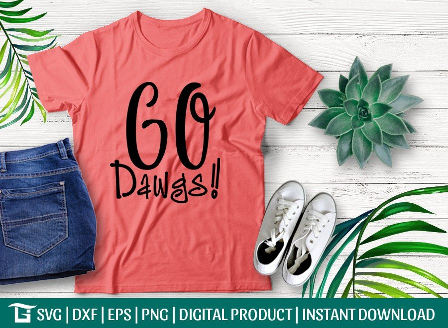 Go Dawgs SVG | Georgia Bulldogs SVG | T-shirt Design