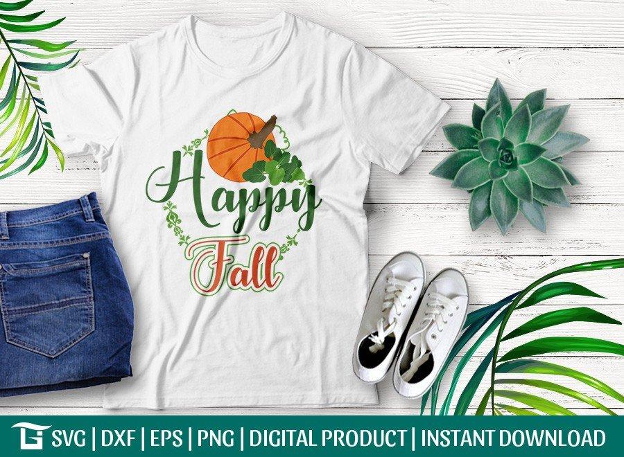 Happy Fall SVG   Thanksgiving   T-shirt Design