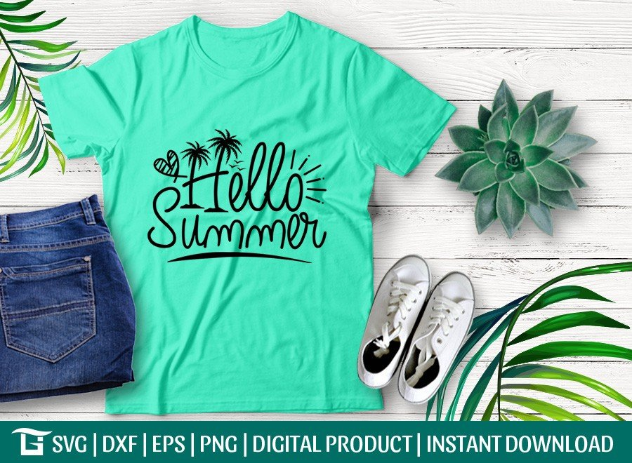 Hello Summer SVG | Beach SVG | T-shirt Design