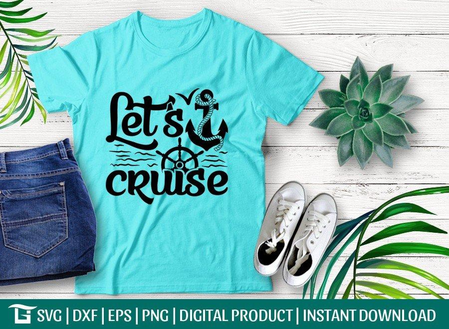Lets Cruise SVG | Anchor SVG | Beach SVG