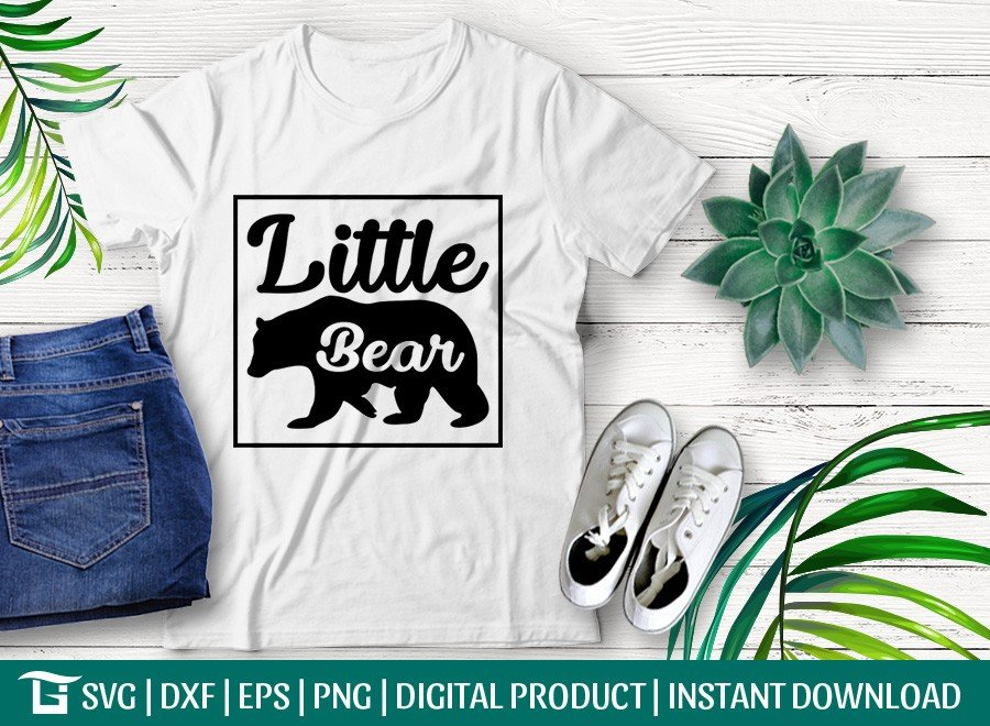 Little Bear SVG | Bear Family SVG | T-shirt Design