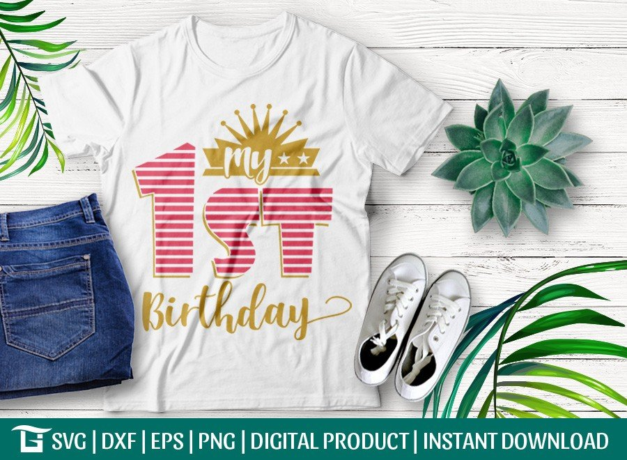 My 1st Birthday SVG   Baby SVG   T-shirt Design