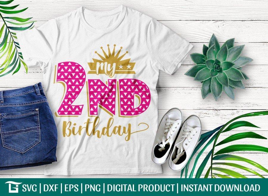My 2nd Birthday SVG   Baby SVG   T-shirt Design
