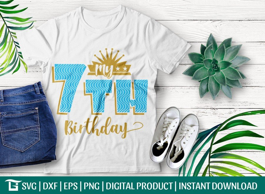 My 7th Birthday SVG   Birthday Party SVG