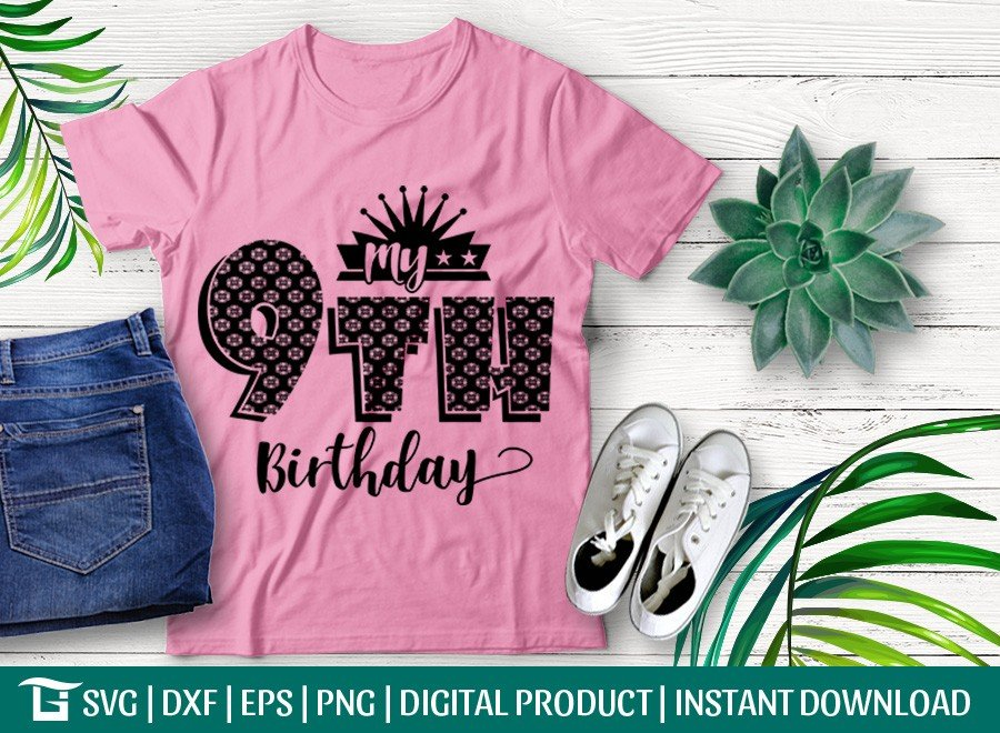 My 9th Birthday SVG | Birthday Party SVG