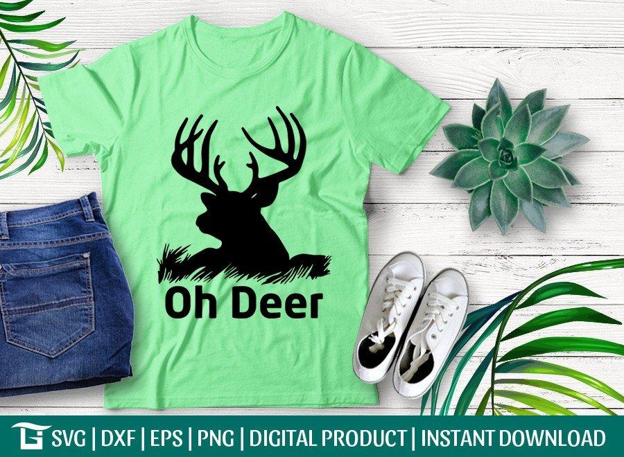 Oh Deer SVG | Deer Head SVG