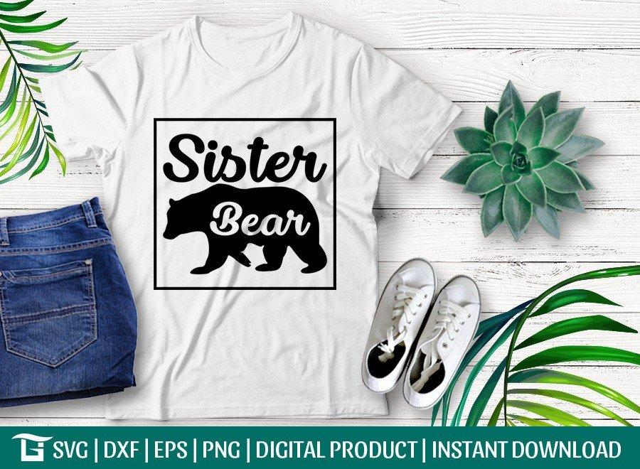 Sister Bear SVG | Bear Family SVG
