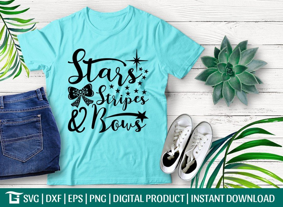 Stars Stripes and Bows SVG | Fourth of July