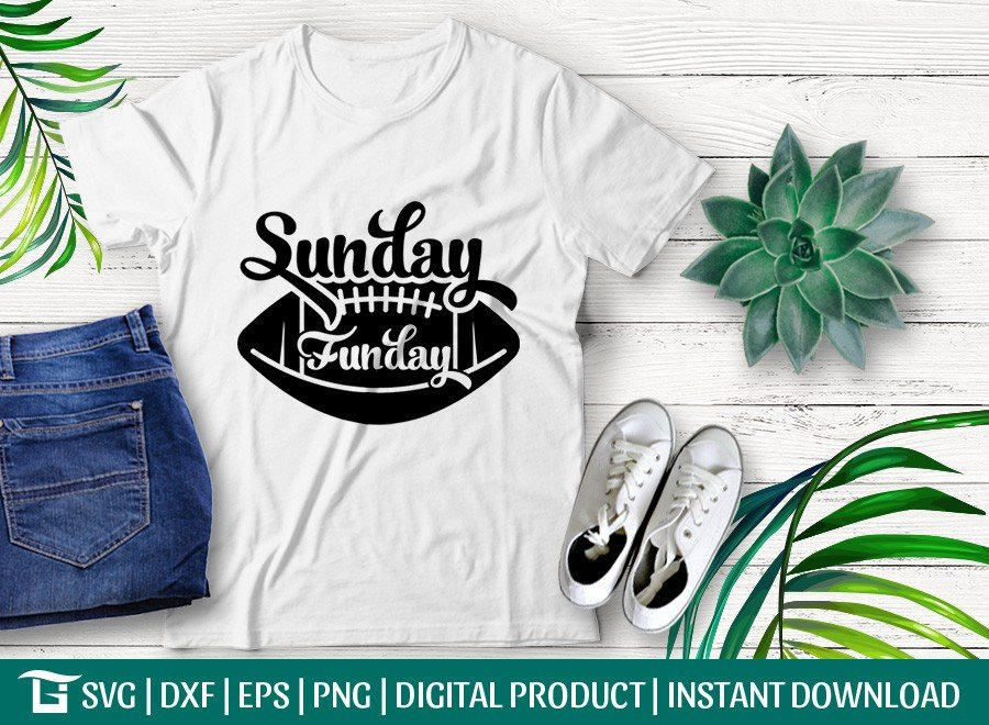 Sunday Funday SVG   Game Day SVG   T-shirt Design