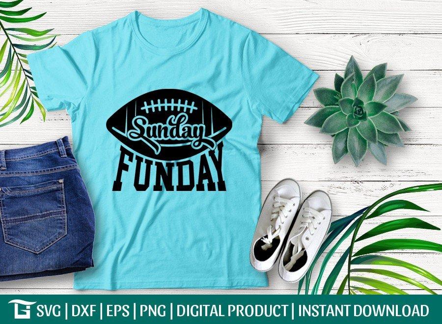 Sunday Funday Football SVG   Game Day   T-shirt Design
