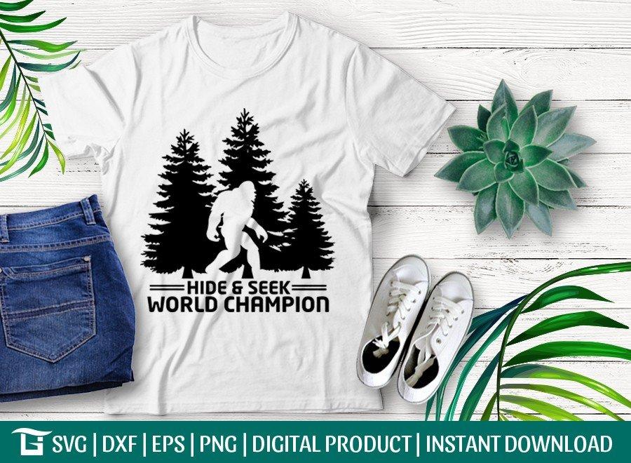 Hide & Seek SVG   World Champion SVG   Bigfoot SVG