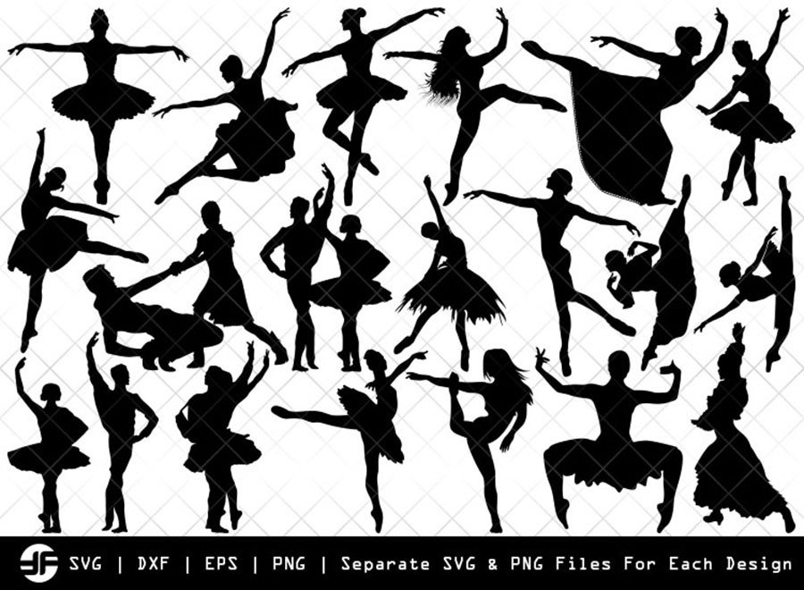 Ballet SVG   Dancer   Balle Dancer Silhouette Bundle   Cut File
