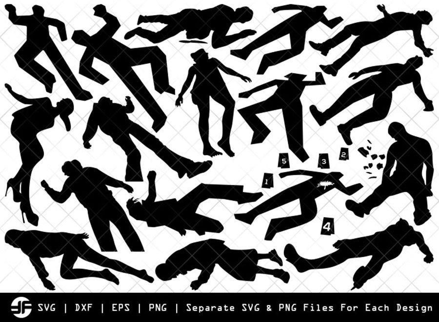 Crime Scene Murder SVG | Silhouette Bundle | SVG Cut File
