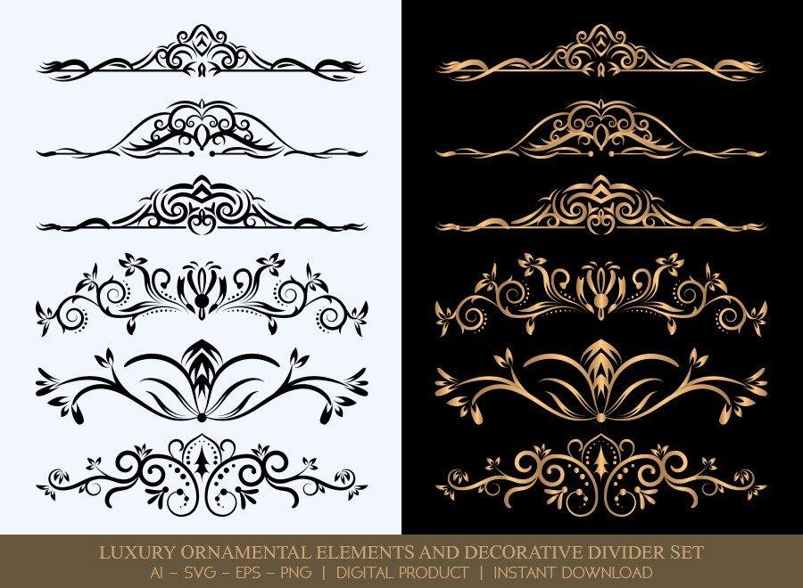 Luxury Decorative Divider Set SVG Cut Files   DDS005
