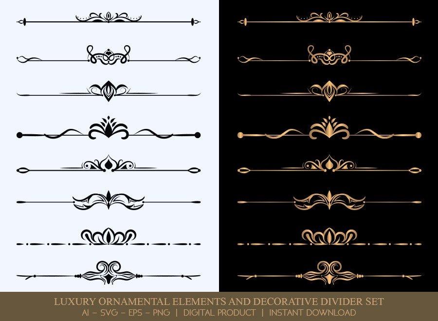 Luxury Decorative Divider Set SVG Cut Files | DDS018