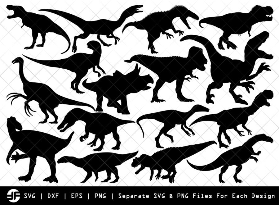 Dinosaur SVG | Animal SVG | Silhouette Bundle | SVG Cut File