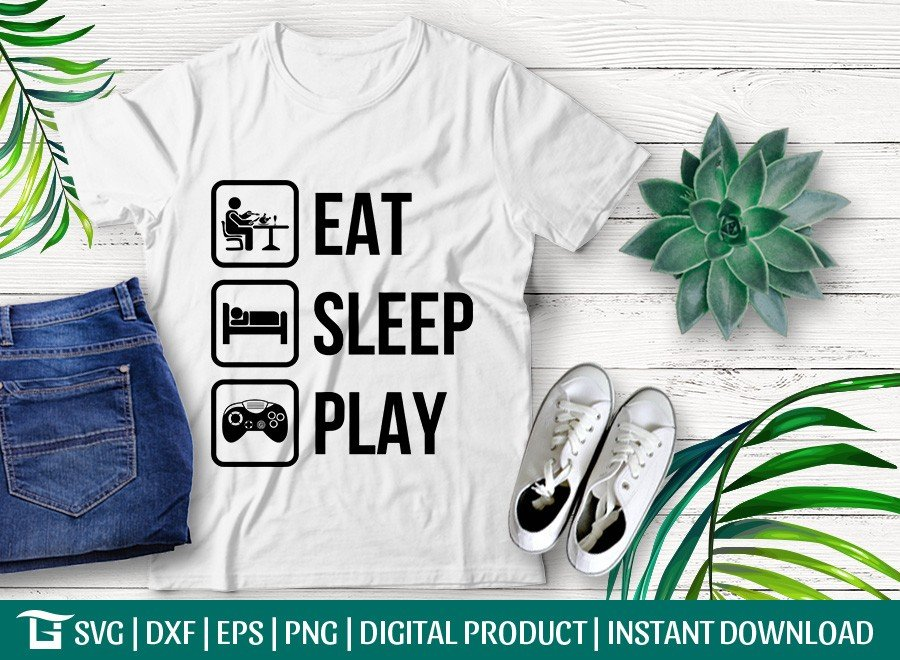 Eat Sleep Play SVG | Game SVG