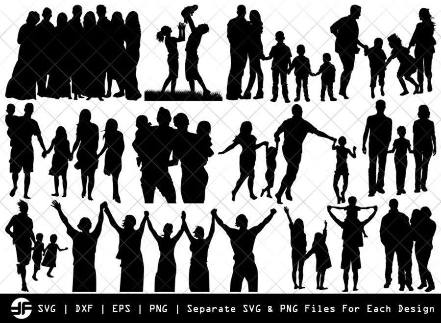 Family SVG | Family Silhouette Bundle | SVG Cut File