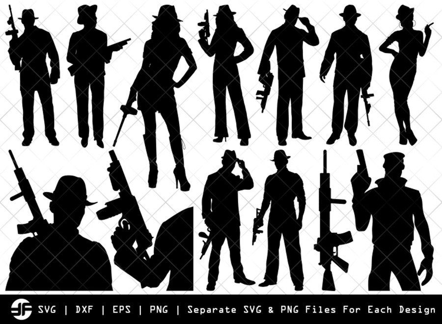 Gangstar SVG | Gangstar Silhouette Bundle | SVG Cut File