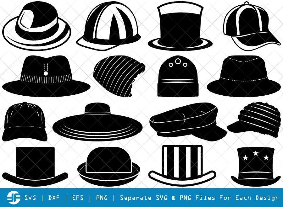 Hat SVG Cut Files | Cowboy Hat Silhouette Bundle