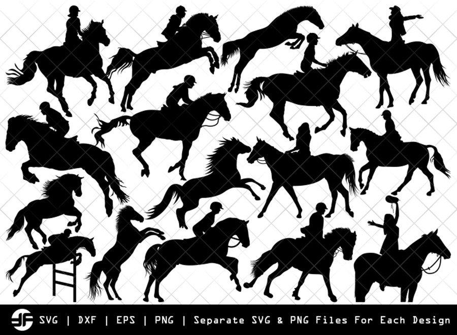 Horse Jumping SVG | Animal | Silhouette Bundle | Cut File