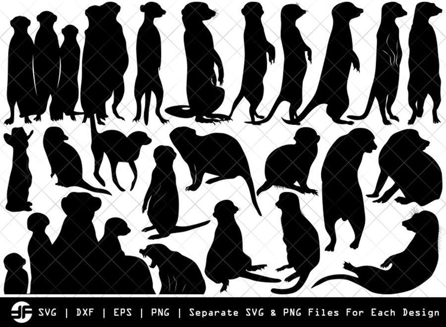 Meerkat SVG | Animal SVG | Silhouette Bundle | SVG Cut File