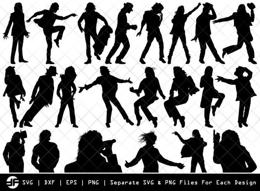 Michael Jackson SVG   Silhouette Bundle   SVG Cut File