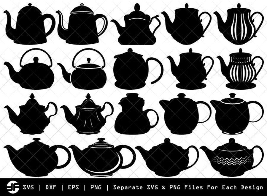 Teapot SVG | Teapot Silhouette Bundle | SVG Cut File