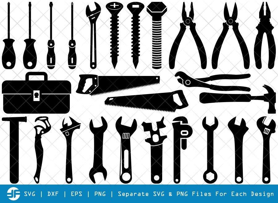 Tools SVG Cut Files | Tool Box Silhouette Bundle