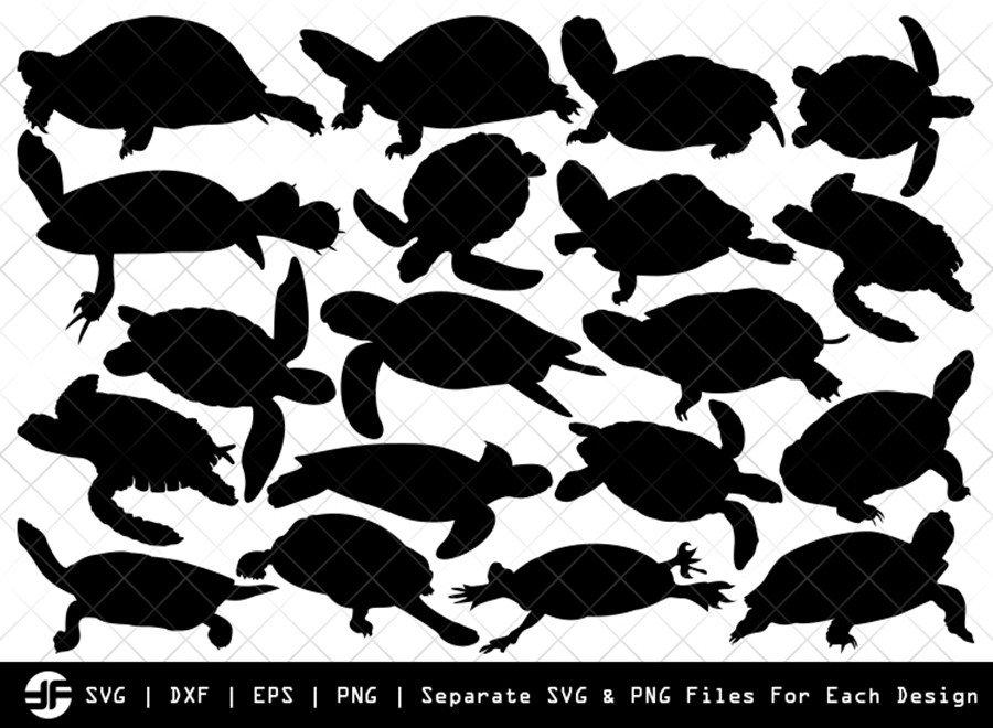Turtle SVG   Animal SVG   Silhouette Bundle   SVG Cut File