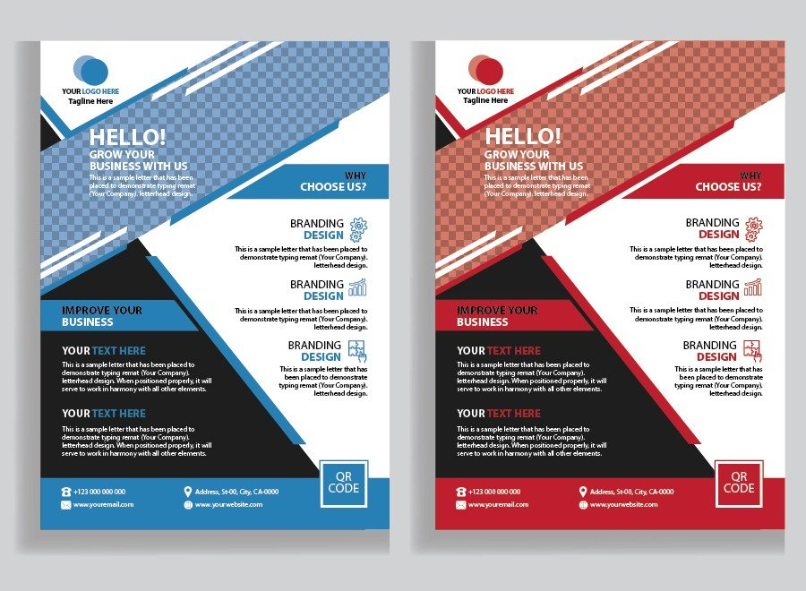 Business Template Flyer, Corporate Flyer Design
