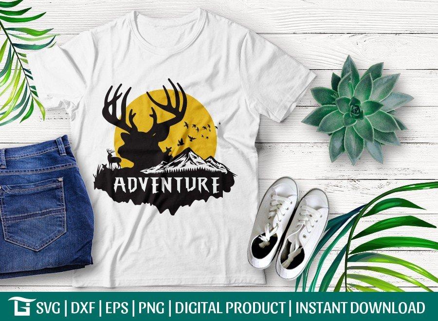 Adventure SVG Cut File | Travel T-shirt Design