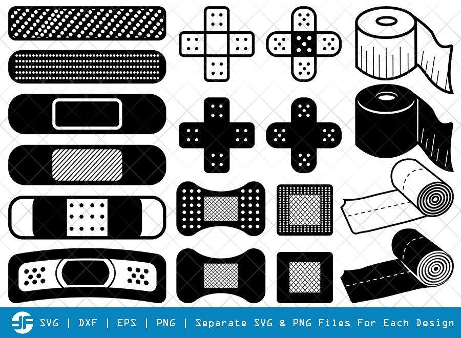Bandage SVG Cut Files | Band Aid Silhouette Bundle