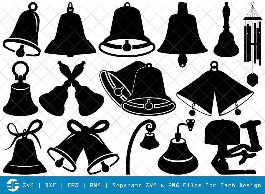 Bells SVG Cut Files   Bells Of Vienna Silhouette Bundle