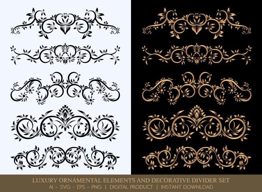 Luxury Decorative Divider Set SVG Cut Files | DDS026