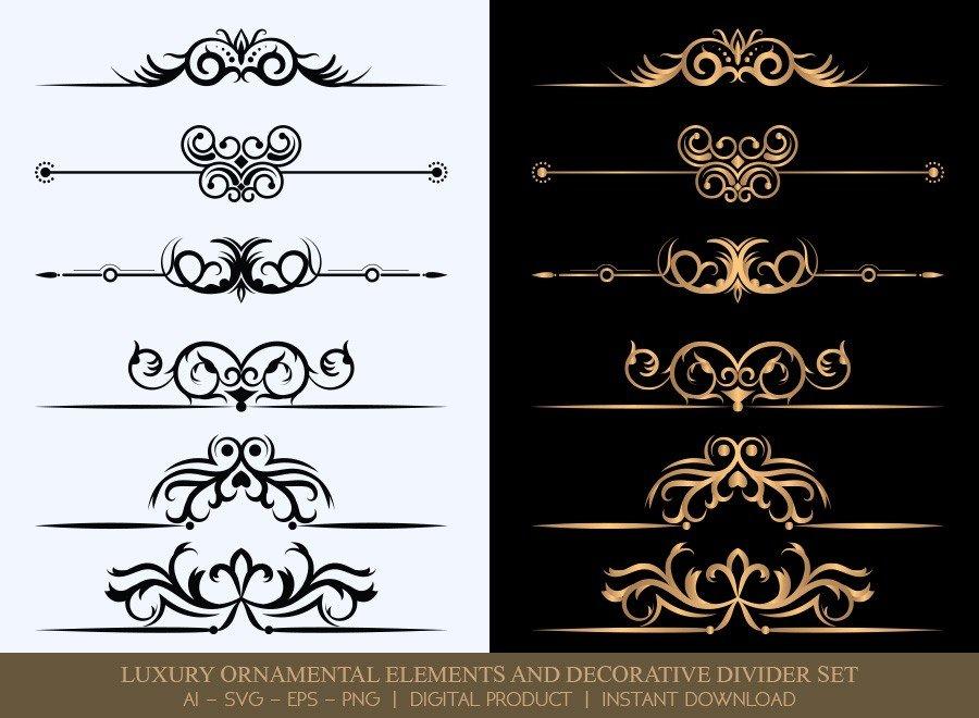 Luxury Decorative Divider Set SVG Cut Files   DDS029