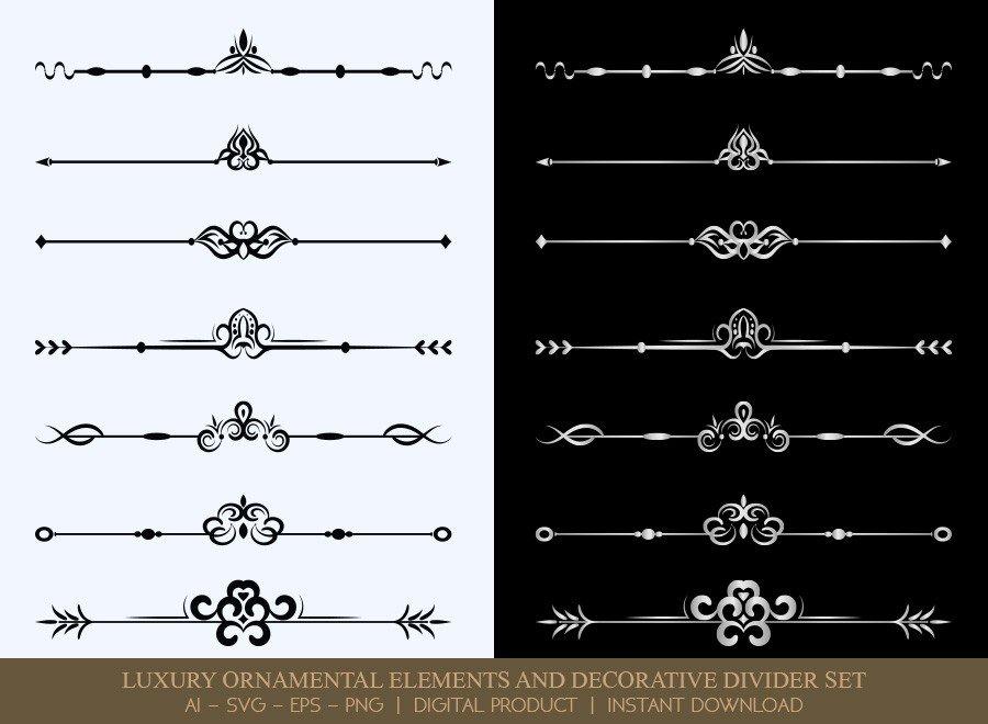 Luxury Decorative Divider Set SVG Cut Files   DDS033