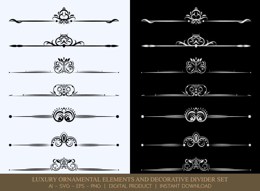 Luxury Decorative Divider Set SVG Cut Files   DDS040