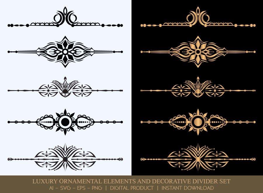 Luxury Decorative Divider Set SVG Cut Files   DDS050