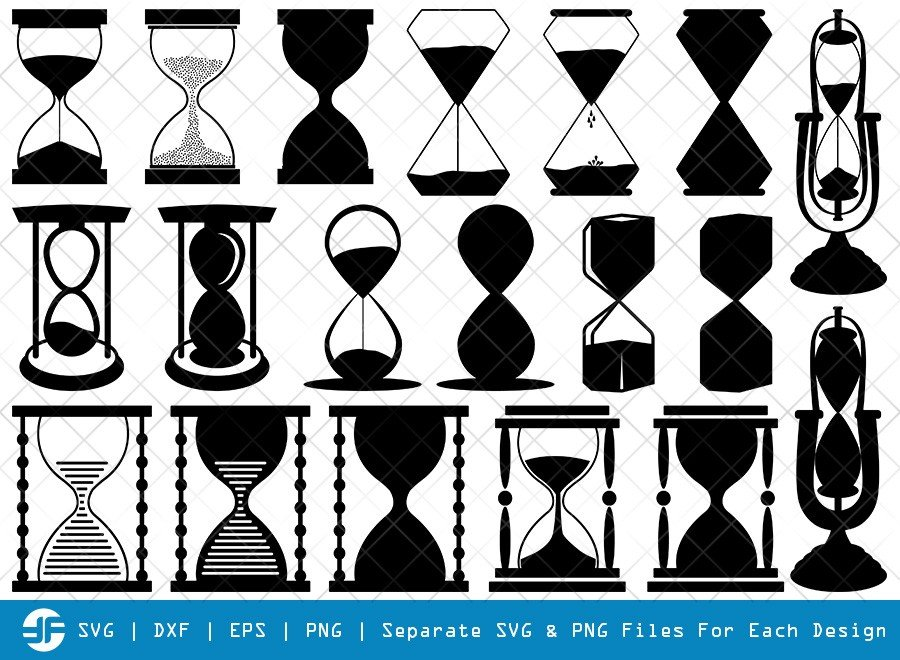 Hourglass SVG Cut Files | Hexagonal Hourglass Silhouette