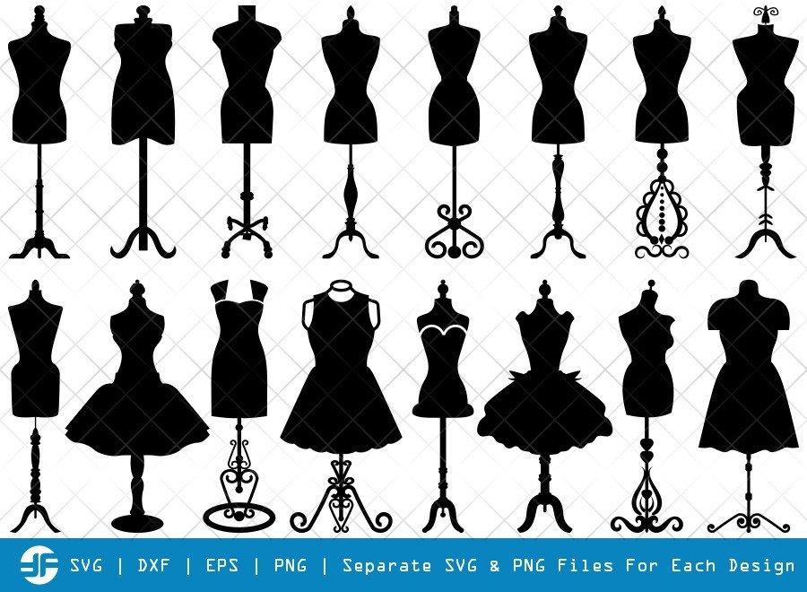 Mannequin SVG Cut Files | Seamstress Mannequin Silhouette