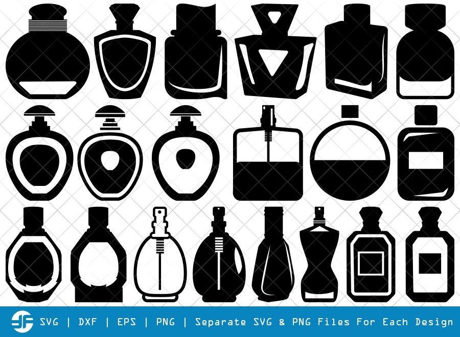 Perfume SVG Cut Files   Spray Bottle Silhouette Bundle