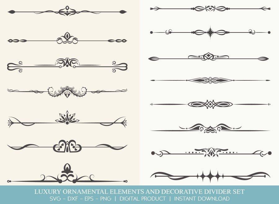 Luxury Ornament Divider Set SVG Cut Files | DDS0016
