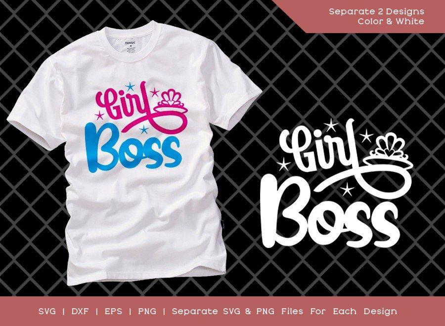 Girl Boss SVG Cut File | Lady Boss Svg | T-shirt Design