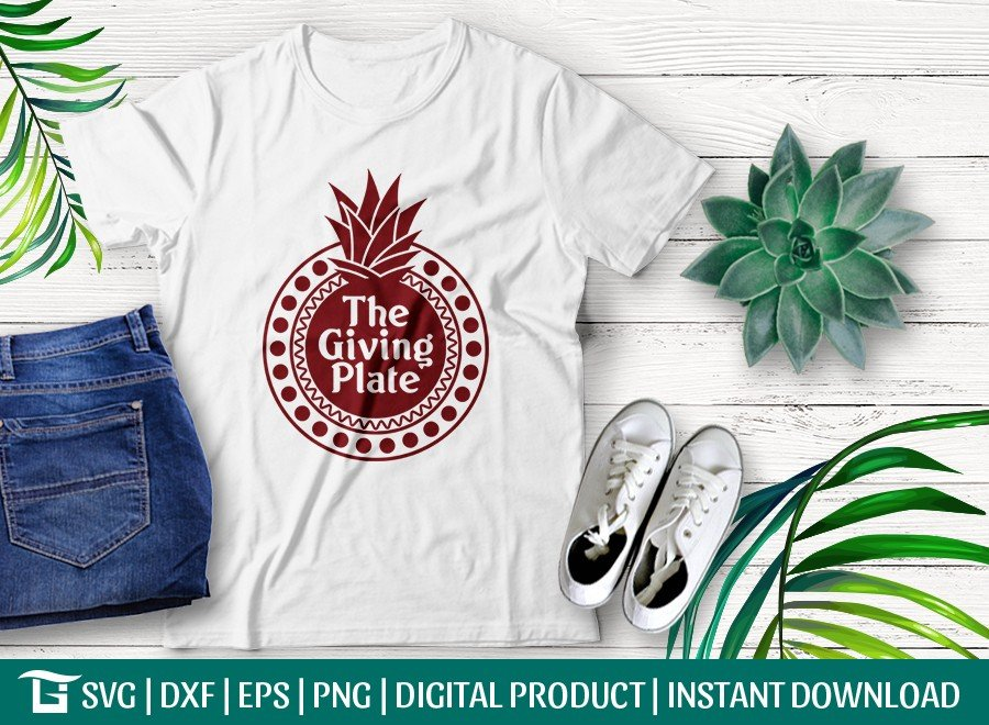 The Giving Plate SVG Cut File | Pineapple Svg