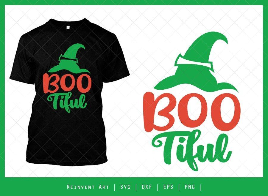 BooTiful SVG Cut File   Halloween Cap T-shirt Design