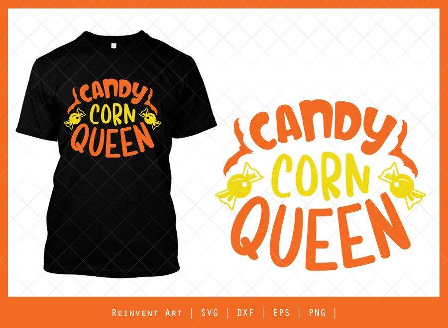 Candy Corn Queen SVG Cut File | Halloween T-shirt Design